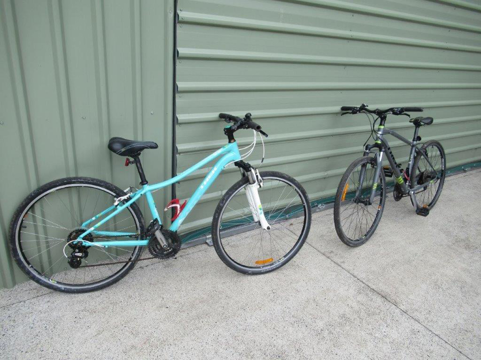 Two bicycles that were refurbished and given a new life by the Maleny Fix-it team before being sold.